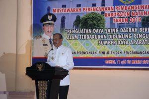 Bupati Natuna Abdul Hamid Rizal, saat membuka Musrenbang Natuna 2019.