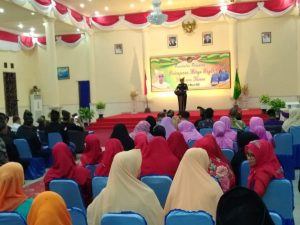 Korwil Melayu Raya Natuna Wan Siswandi, menyampaikan kata sambutan didepan para hadirin.