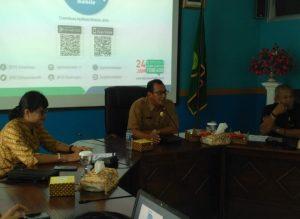 Wan Sofian bersama Perwakilan Pemda dan Kepala Cabang BPJS Kesehatan Kepri.