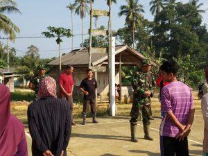 Kapten (Arm) Bambang Hendratno, saat memberikan arahan sebelum memulai kegiatan.