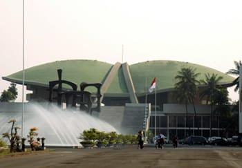 Gedung DPR RI Senayan, Jakarta.