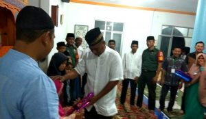 Acara penyambutan kedatangan rombongan FKPS di Desa Mekar Jaya