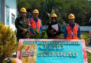 Foto bersama usai melaksanakan peninjauan ke sejumlah fasilitas PLTD Sedanau.