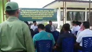 Suasana sosialisasi Peta Jarak Jaring Teritorial Koramil 03/Sedanau.