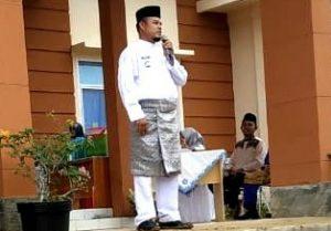 Sambutan Camat Bunguran Batubi, Nur Parta Suprihatin.