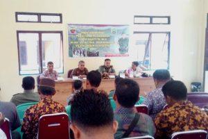 Suasana Rapat Koordinasi Pemantapan Pelaksanaan Karya Bakti TNI 2019 di Kecamatan Pulau Tiga.