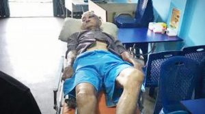 salah seorang warga Tionghoa yang berjualan mie di Jalan Temiang menjadi korban begal, Sabtu (10/8) pagi.