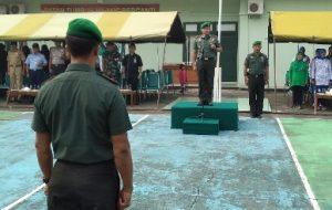 Dandim 0318/Natuna Letkol (Czi) Ferry Kriswardana, S.Sos., M.Tr., (Han) saat menjadi Inspektur Upacara, pada pembukaan Lomba PBB dan PPM HUT TNI ke 74.