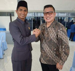 Andes Putra bersama salah seorang tokoh pengusaha perikanan asal Pontianak, Kalimantan Barat.