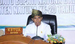 Ketua DPRD Natuna Andes Putra saat memimpin sidang.
