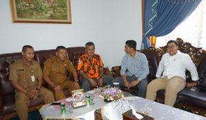 MPC Pemuda Pancasila Natuna saat bersilahturahmi dengan Pimpinan DPRD Natuna.
