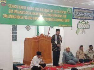 Ustadz H. Tirtayasa, S.Ag., saat menyampaikan Tausiah Agama.