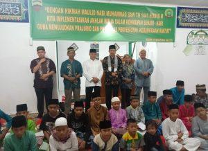 Dandim Natuna bersama jajarannya saat foto bersama Penceramah dan Puluhan Anak Yatim, pada Peringatan Maulid Nabi Muhammad SAW 1441 Hijriyah.