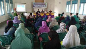 Suasana Sosialisasi BPNT 2019 di Sedanau Kecamatan Bunguran Barat.