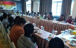 Kapolres Natuna saat memberikan himbauan didepan peserta Basembang Bercerite Polres Natuna.