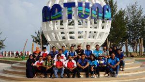 Para pengurus DPD KNPI Kabupaten Natuna, usai melakukan Deklarasi.