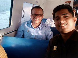 Ketua DPRD Natuna Andes Putra, saat bersama Menteri KP Edhy Prabowo.