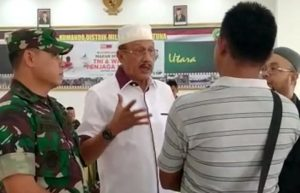 Bupati Natuna Abdul Hamid Rizal bersama Dandim 0318/Natuna Letkol (Czi) Ferry Kriswardana, S.Sos. M.Tr(Han).