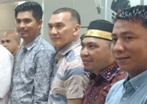 Tampak Ketua DPRD Natuna Andes Putra, Ketua Komisi I Wan Arismunandar, Ketua Komisi II Marzuki dan Ketua Komisi III Rusdi.