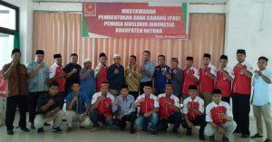 Foto bersama usai pembukaan Musyawarah PAC Pemuda Muslim Natuna.