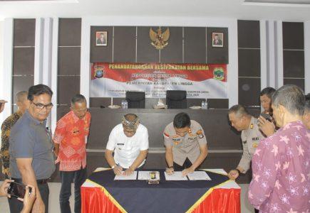 Polres MoU Bersama Pemkab Lingga Tentang Penerimaan Anggota Polri