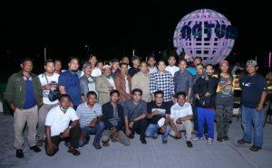 Para insan pers foto bersama unsur pimpinan dan anggota DPRD Natuna.