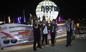 Pertunjukan beatbox dari para pelajar turut meriahkan HPN ke 74 di Kabupaten Natuna.