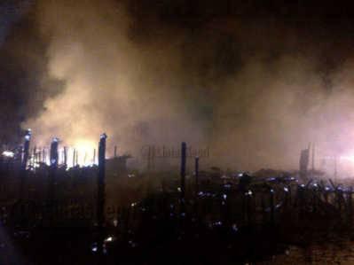 Puluhan Rumah di Tarempa Terbakar