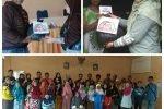 Didampingi Kasubbag Pemberitaan, Wartawan Natuna Bagi Sembako untuk Warga Batu Gajah