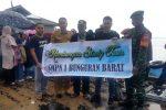 Babinsa Sedanau Ikut Lepas Rombongan SMPN 1 Bunguran Barat Study Tour ke Serasan Timur
