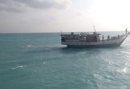 Koramil 08/Pulau Laut Ikut Lakukan Penyelamatan Kecelakaan Pompong