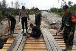 Ini Bentuk Sinergitas TNI, POLRI dan Masyarakat di Perbatasan