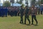 Bersama Kapolri, Panglima TNI Pimpin Apel Operasi Kemanusiaan di Natuna