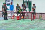 Tugas Militer Selain Perang, Kodim 0318/Natuna Sosialisasikan Pembuatan Disinfektan